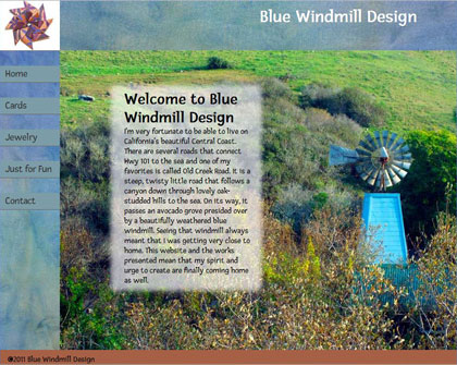 Blue Windmill Design the work of Carolyn Niblick