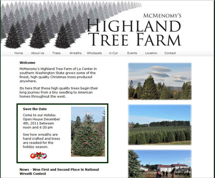 A Christmas Tree Farm in La Center Washington
